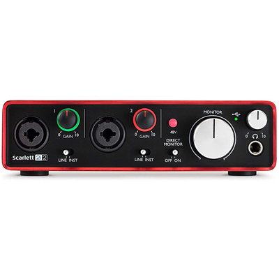 Interface De Áudio USB 2.0 FOCUSRITE Scarlett 2i2