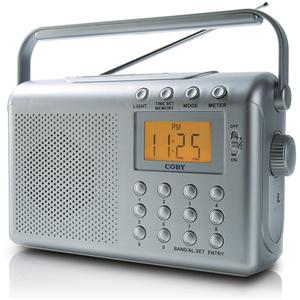 Rádio Portátil Digital AM/FM CX-789 com 2 Alarmes e Relógio - COBY