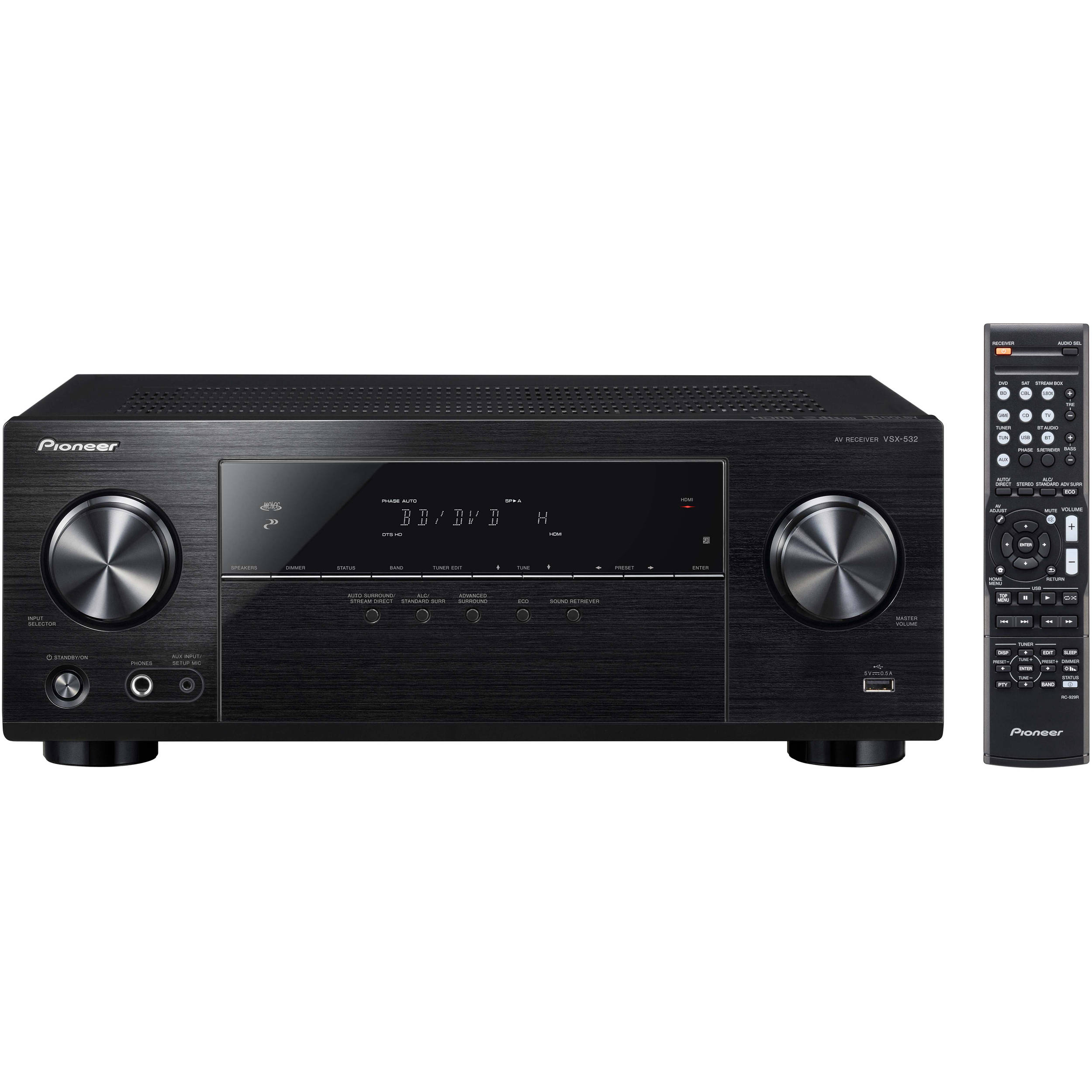 Receiver A/V VSX-532 5.1 4K HDMI BT ULTRA HD 840W - PIONEER